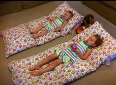 4 pillows and 3 yards of material... Kids lounger. Easy to stack and store.