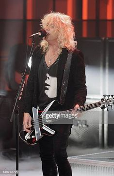 Musical guest Rick Savage of Def Leppard performs on May 10 2011 Photo by Paul Drinkwater/NBC/NBCU Photo Bank Savage Pictures, Vivian Campbell, Phil Collen, Rick Savage, Joe Elliott, Stevie Ray Vaughan, David Gilmour, Jimmy Page, Keith Richards