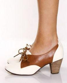 Preppy swag. Oxford heels