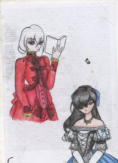 Some victorian dress on some anime girl  Oc hetalia greenland Another Misaki Mei