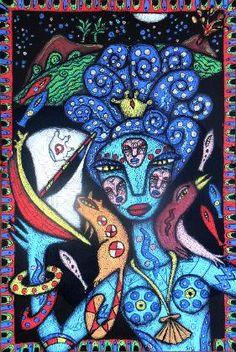 Julia Sisi outsider folk art visionary paintings and drawings