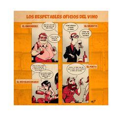 Luis Suárez Lápiz, tinta china e impresión digital Los respetables oficios del vino 50 x 50 cm.