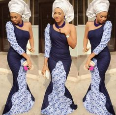 Loving the reverse pattern on this Nigerian wedding dress ♡ ♥ ♡