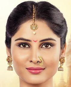 South Indian Actress Hot, Beautiful Indian Actress, Beautiful Actresses, Beautiful Bride, Beautiful Flowers, Nose Jewels, Indian Natural Beauty, Indian Eyes, Marathi Wedding