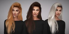 Aveline Sims: Hallow`s Raon 36 hair retextured  - Sims 4 Hairs - http://sims4hairs.com/aveline-sims-hallows-raon-36-hair-retextured/