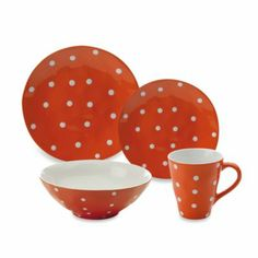 Maxwell & Williams™ Sprinkle Collection Orange Dinnerware - BedBathandBeyond.com