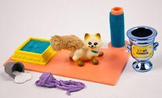 Littlest PET Shop Sleek Siamese With Scratching Post Kitty CAT VTG 1994 Kenner