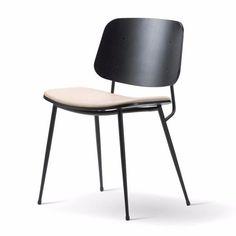 Soborg Chair - Steel Frame, Seat Upholstered