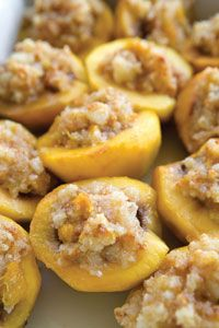 James and the Giant Peach: Baked Stuffed Peaches