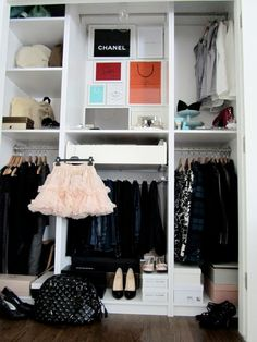 Of course you can make my closet look like this! ;)