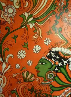 Kerala mural painting tutorial