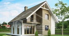 Skoraj nič-energijska hiša (NZEB – Nearly Zero Energy Building) Bungalow Haus Design, Modern Bungalow House, Bungalow Homes, House Design, Style At Home, Future House, My House, Duplex House Plans, Facade House