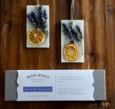 Rosy Rings Lavender Tangerine Botanical Wax Sachets