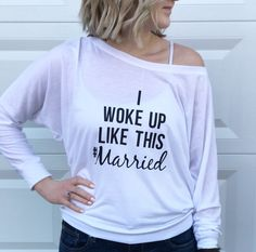 #married shirt. Bridal shower. Newlywed. Wedding gift. Gift for the bride to be.