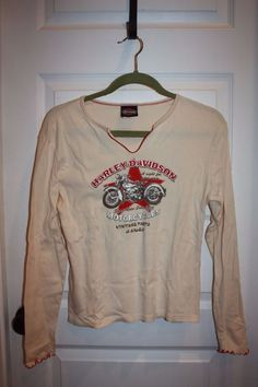 Women's Harley Davidson Long Sleeved Knit Shirt - Size XL - Cream Color - EUC! #HarleyDavidson #KnitTop