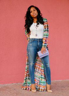 Shirt Dress Cover Up + Plain White Top + Skinny Jeans Source by Dresses Fashion Moda, Look Fashion, Autumn Fashion, Curvy Girl Fashion, Black Women Fashion, Womens Fashion, Style Outfits, Casual Outfits, Fashion Outfits