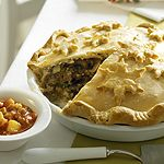 Freeze-Ahead Tourtière—This classic is usually made with ground pork, often with the addition of potatoes for thickening. Mushrooms are unconventional, but tourtière fans will be happy with the extra flavour. Crab Recipes, Pie Recipes, Make Ahead Meals, One Pot Meals, Main Course Dishes, Main Dishes, Holiday Recipes, Holiday Meals, Christmas Recipes