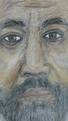 Close-up of #alex #riendoart #losangeles #artist #painting #drawing #sketchaday #localartist #acrylic #acrilico #artista #pintora #inspired #mexico #usa #prints #specialpeople #gift www.society6.com/riendo