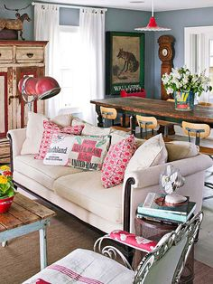 Don't be afraid to embrace your flea market finds! Find our most clever ideas here: http://www.bhg.com/decorating/decorating-style/flea-market/ideas-for-flea-market-finds/?socsrc=bhgpin061514farmhousefun&page=8
