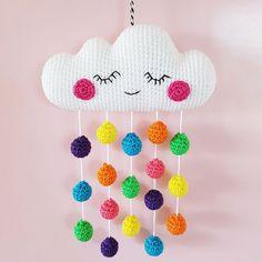 Mesmerizing Crochet an Amigurumi Rabbit Ideas. Lovely Crochet an Amigurumi Rabbit Ideas. Mobiles En Crochet, Crochet Mobile, Crochet Amigurumi, Crochet Toys, Crochet Baby, Cloud Mobile, Arm Knitting, Knitting Patterns, Crochet Patterns