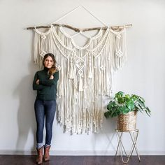 Extra Large 6 ft wide Macrame Wall Hanging / wedding backdrop