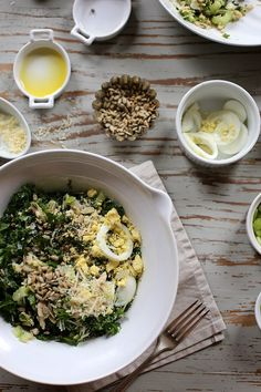 Tuna, Kale, and Egg Salad