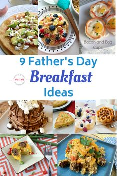 These Father's Day breakfast ideas are a scrumptious way to start the day and show Dad just how much he means to you. Let's take a look at some wonderful Fathers' Day breakfast ideas. Father's Day Breakfast, Savory Breakfast, Breakfast Ideas, Breakfast Recipes, Fathers Day Dinner Ideas, Fathers Day Brunch, Brunch Recipes, Dinner Recipes, Homemade Fathers Day Gifts