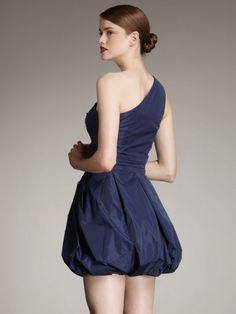 One shoulder bubble dress.