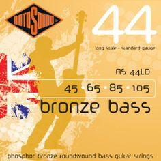 Rotosound RS44LD Phosphor Bronze Bass Guitar Strings (45 65 85 105) by Rotosound. $28.53. PHOSPHOR BRONZE 45 65 85 105. Save 43%!