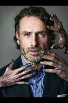 """Rick """"Andrew Lincoln"""" the Walking Dead."""