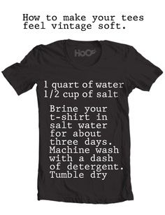 how to make your tees vintage soft