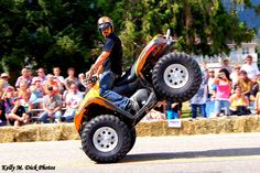2nd Annual Sturgis North Burnout, Sicamous, BC., July 20, 2012.  West Coast Freestyle Stunt Riders.  © Kelly M. Dick