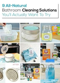 These cleaning solutions are all-natural and all your bathroom really needs to get and stay super clean!