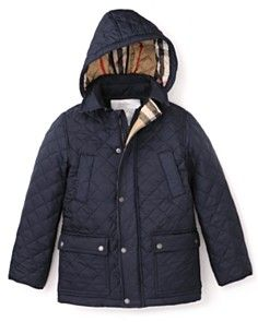 Burberry Boys' Quilted Hooded Jacket - Sizes 2-6