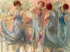 Study dance in pastel by Corry Kooy