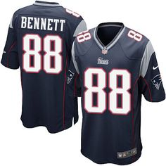 Nike New England Patriots Men's #88 Martellus Bennett Game Navy Blue Home NFL Jersey