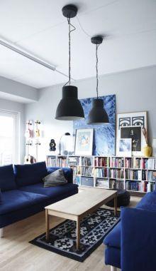 Dreamy Blue Shades In A Danish Apartment