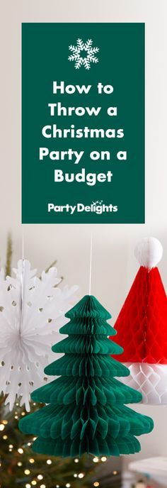 Find out how to throw a Christmas party on a budget with our money-saving party tips. From cheap Christmas decorating ideas to what type of party food to serve, our party ideas are perfect for office Christmas parties, family get-togethers and other festive occasions!