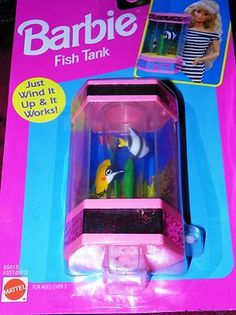 d386a380f13 1993 Barbie Dolls Fish Tank New in Package Never Opened