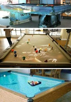 Water pool table....I'm not even sure this is possible but Ooooooo do I like the dream