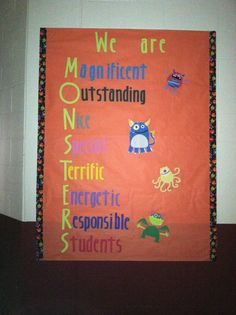 I like the wording for m-o-n-s-t-e-r, will probably do something similar for the door/wall space