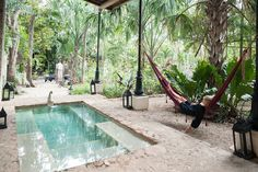 The Top 4 Places to Stay in The Mayan Riviera - Coqui Coqui Valladolid Tulum, Small Backyard Pools, Small Pools, Cozumel, Jungle Life, Mini Pool, Natural Swimming Pools, Plunge Pool, Garden Pool