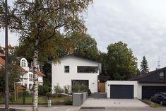 Passivhaus in München •  Energiesparhaus • Holzhaus mit verputzter Fassade • 213 qm Wohnfläche • Baujahr 2016  • Entwurf: Arch. Cathrin Peters-Rentschler, Florian Flocken