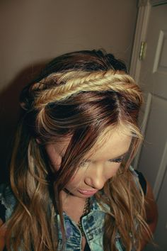 fishtail mini milkmaid # wedding Braids barefoot blonde You searched for label/hair ideas - Barefoot Blonde by Amber Fillerup Clark Going Out Hairstyles, Fancy Hairstyles, Braided Hairstyles, Wedding Hairstyles, Milkmaid Braid, Fishtail Braids, Bombshell Hair, Wedding Braids, Barefoot Blonde