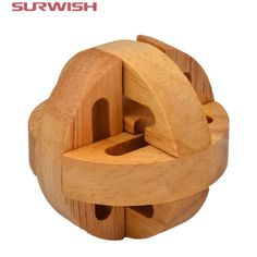Surwish Puzzle Brain Training Toys Kong Ming Lock Lu ban Locks Destiny Wooden Puzzle