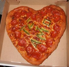 I LOVE YOU PIZZA  PERSONALIZED PIZZA