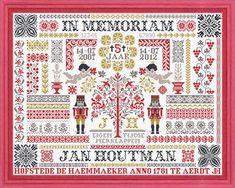 Jan Houtman patroon 100 jaar Vorstinnen - Google zoeken Cross Stitch Samplers, Modern Cross Stitch, Traditional, Quilts, Embroidery, Blanket, Rugs, Google, Home Decor