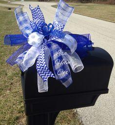 UK blue & white mailbox topper, Wildcats, Kentucky