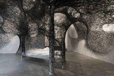 Contemporary Art Blog   Chiharu Shiota, Sleeping is like death, 2016