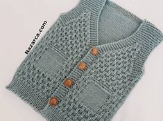 Baby Cardigan Knitting Pattern Free, Baby Knitting Patterns, Easy Crochet, Crochet Baby, Baby Vest, Baby Outfits, Clothes, Fashion, Vest Coat